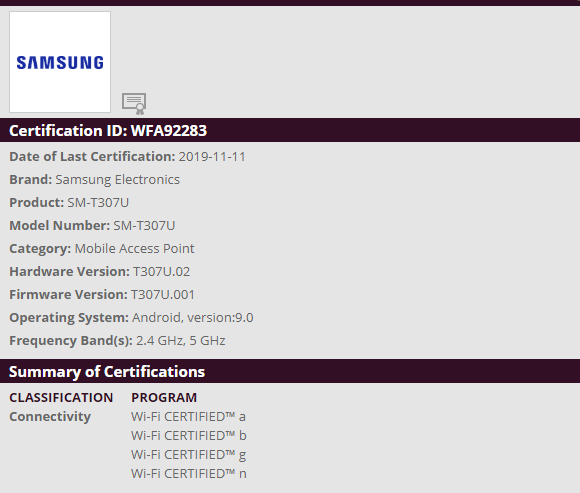 Samsung SM-T307