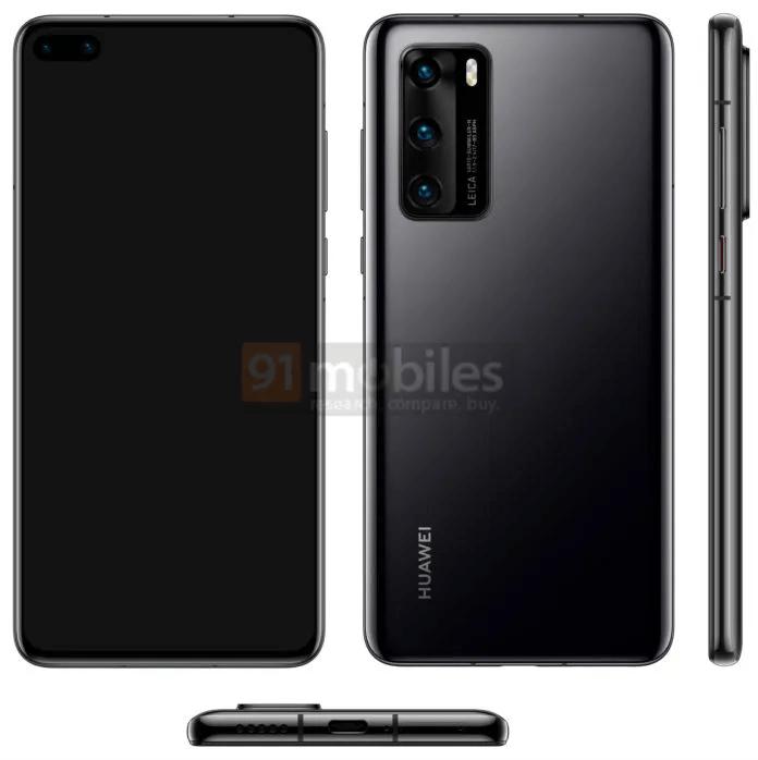 Huawei P40 Case Renders