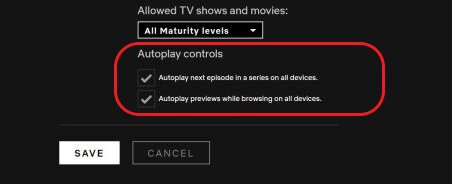 disable Netflix Autoplay Videos