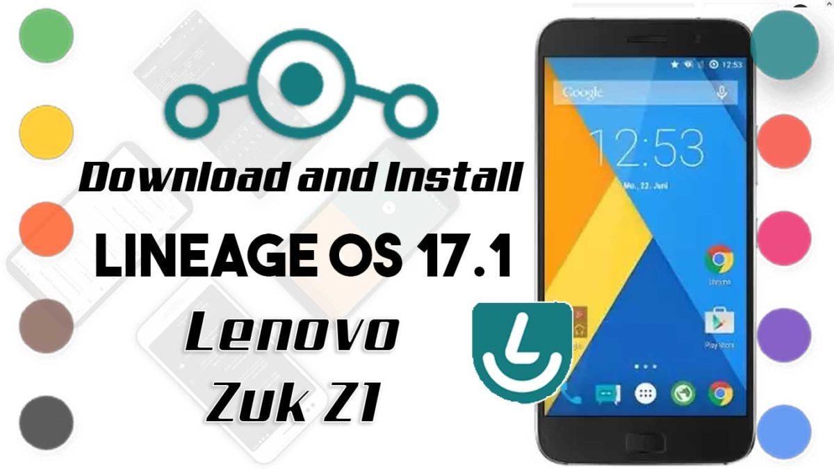 Lineage OS 17.1 for Lenovo Zuk Z1