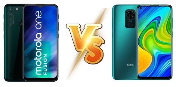 Motorola One Fusion vs Redmi Note 9
